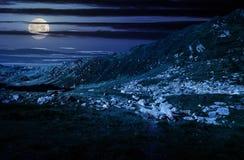 Valle hermoso de las montañas de Fagaras Fotografía de archivo libre de regalías