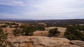 Valle hermoso en el parque nacional de los arcos en Utah almacen de video