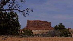 Valle hermoso en el parque nacional de los arcos en Utah metrajes