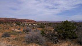 Valle hermoso en el parque nacional de los arcos en Utah almacen de metraje de vídeo