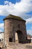 Valle histórico británico de la horqueta de la atracción turística de Monmouth País de Gales del puente de Monnow Imagen de archivo