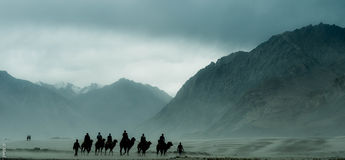 Valle India di Nubra! fotografie stock libere da diritti