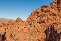 Valle irregolare di fuoco Nevada Immagini Stock