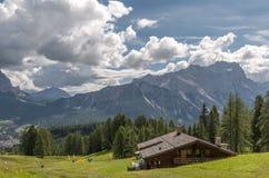 Valle italiana delle alpi, Italia Fotografie Stock Libere da Diritti