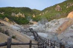 Valle Jigokudani Hokaido Japón del infierno Imagenes de archivo
