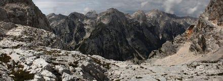 Valle in Julian Alps, Slovenia di Vrata Fotografia Stock