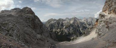 Valle in Julian Alps, Slovenia di Vrata Fotografie Stock Libere da Diritti