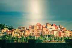 Valle Khao yai di Toscana Fotografia Stock
