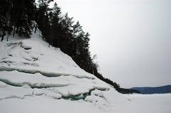Valle levata in piedi del mare Fotografie Stock