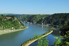 Valle medio de Rhin en el Loreley Foto de archivo