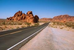Valle misteriosa di fuoco, Nevada, U.S.A. Immagini Stock Libere da Diritti