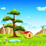 Valle natural stock de ilustración