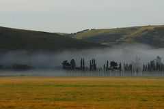 Valle nebbiosa Fotografie Stock