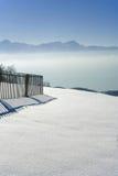 Valle nebbiosa VUE dal pelerin di Mont Immagine Stock Libera da Diritti