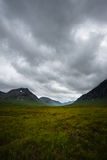 Valle negli altopiani scozzesi Fotografia Stock
