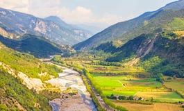 Valle nel sud della Francia Fotografie Stock Libere da Diritti