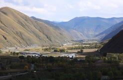 Valle nella zona di montagna Fotografie Stock