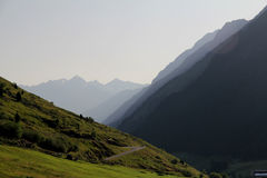 Valle nelle alpi di Otztal, Austria Fotografie Stock