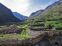 Valle nelle Ande del Perù del sud fotografia stock