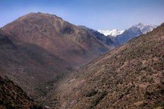 Valle Nevado el verano con poca nieve fotografía de archivo libre de regalías
