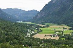 Valle in Norvegia fotografia stock