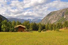 Valle in Norvegia del Nord Fotografia Stock