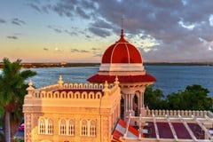 Valle pałac - Cienfuegos, Kuba zdjęcia stock
