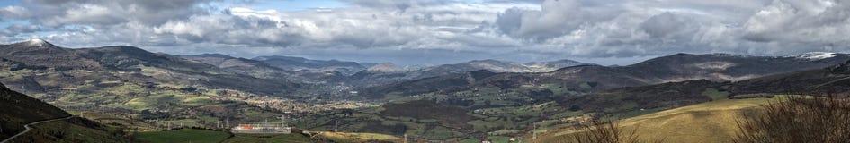 Valle Pano de Cantabria Imagenes de archivo
