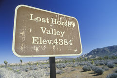 Valle perdido del caballo Imagenes de archivo