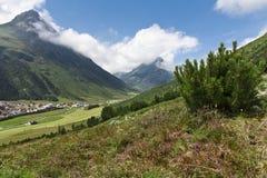 Valle piena di sole del Tirol Immagini Stock