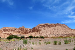 Valle Quitor mountains in Atacama Stock Image