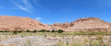 Valle Quitor panorama, San Pedro de Atacama royalty free stock photo