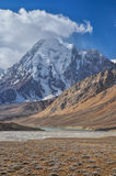 Valle árido en Tayikistán Foto de archivo