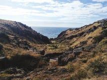 Valle rocciosa Fotografia Stock Libera da Diritti