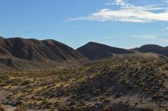 Valle rojo California de la colina del barranco de la roca Imagen de archivo libre de regalías