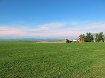 Valle rojo de Champlain del granero Foto de archivo