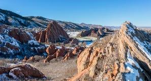 Valle rojo de la roca Fotografía de archivo