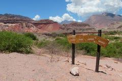 Valle rojo hermoso de la roca y x22; Quebrada de las conchas& x22; fotos de archivo