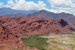 Valle rojo hermoso de la roca y x22; Quebrada de las conchas& x22; foto de archivo libre de regalías