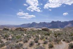 Valle rugoso del área roja de la protección de la roca, Nevada Fotografía de archivo
