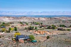 Valle rural en Grand Junction, CO imagenes de archivo