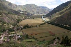 Valle sacra delle inche, valle di Urubamba fotografia stock libera da diritti