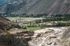 Valle sacra delle inche situate nella regione peruviana di oggi di Cusco, Perù Immagini Stock