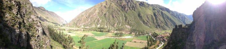 Valle sacra di panorama del Perù fotografia stock libera da diritti