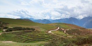 Valle sacra in Moray Peru Immagini Stock