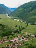 Valle sagrado de incas Imagen de archivo