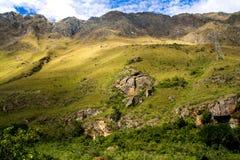 Valle sagrado de los Peruvian: El paseo del tren a Machu Picchu Imagen de archivo libre de regalías