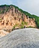 Valle sismicamente attiva nell'Hokkaido, Giappone Immagine Stock