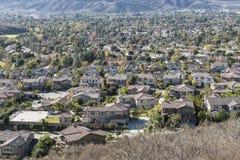 Valle suburbano Foto de archivo libre de regalías