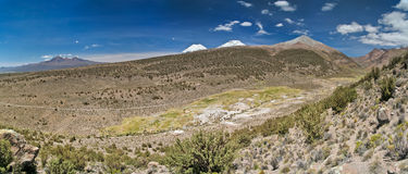 Valle sul altiplano in Bolivia fotografie stock